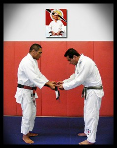 Master Caique and Master Rickson Gracie